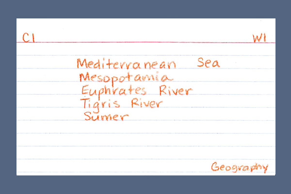 Classical Skills Notecard Back Foundations Geography