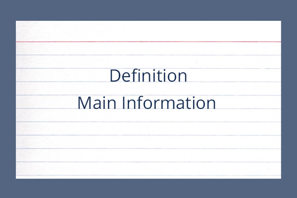 Classical Skills Notecard Definition