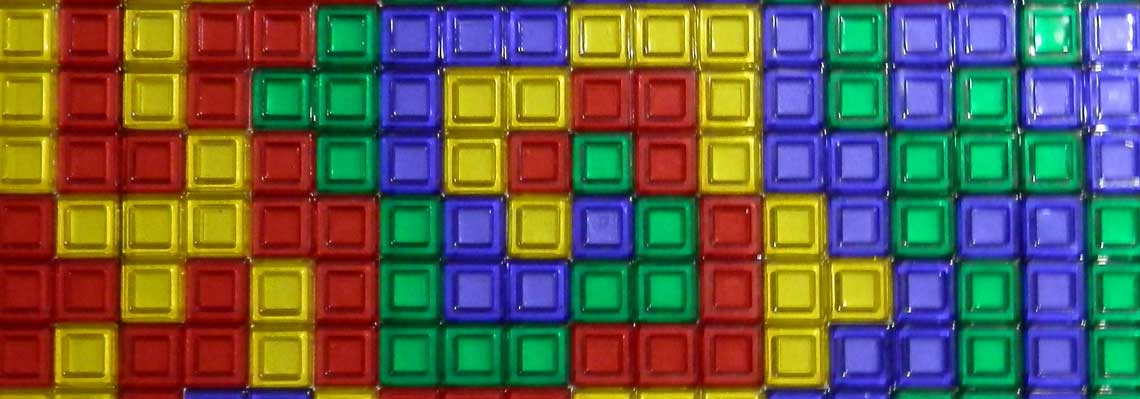 Blokus playing board living with an eternal perspective