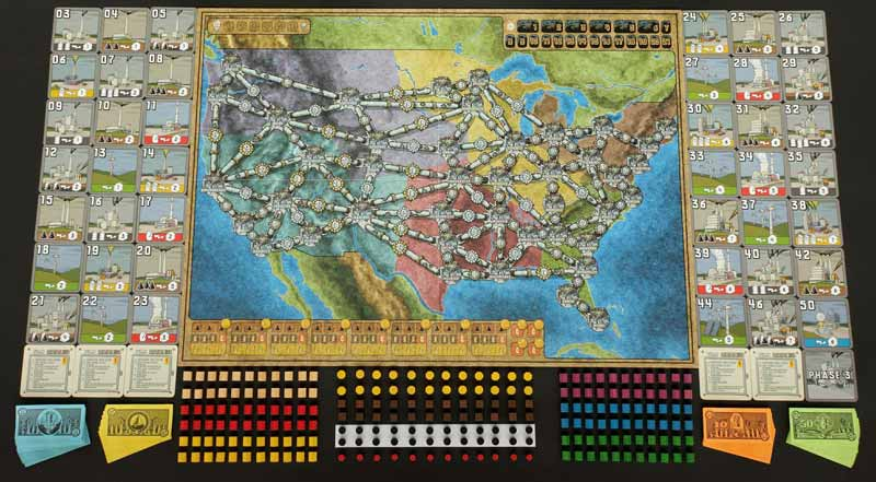 Power Grid Game Board